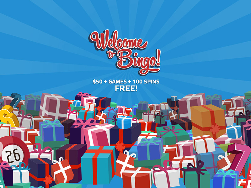 $50 + FREE PLAYS + 100 FREE SPINS  TO PLAY BINGO